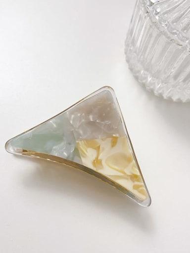 Aqua color blocking 7cm Cellulose Acetate Minimalist Triangle Alloy Multi Color Jaw Hair Claw