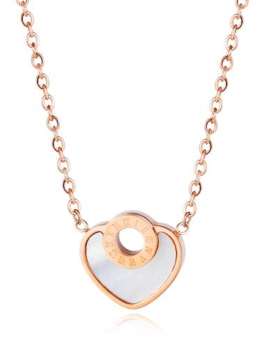 Love 1640 Titanium Rhinestone Number Minimalist Necklace