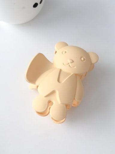 Yellow 8.5cm Alloy Acrylic Cute Bear  Jaw Hair Claw