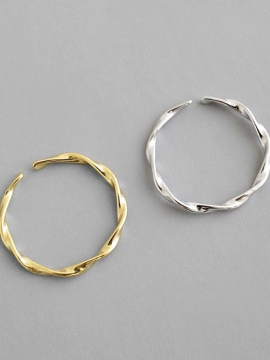 925 Sterling Silver Minimalist Wave Open Knuckle Ring