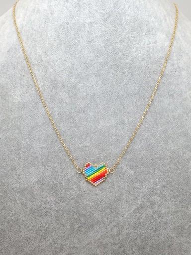 Stainless steel  Miyuki beads Irregular Bohemia Miyuki beads Necklace