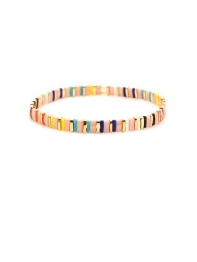 TL B190091F Tila Bead Bohemia Multi Color Geometric Pure handmade  Bracelet