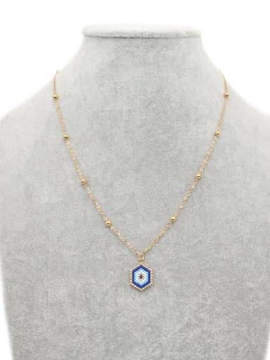 MI N190020 Stainless steel Miyuki beads Evil Eye Bohemia Pure handmade, Necklace