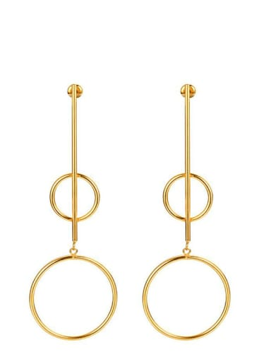 Titanium Steel Geometric Minimalist Drop Earring