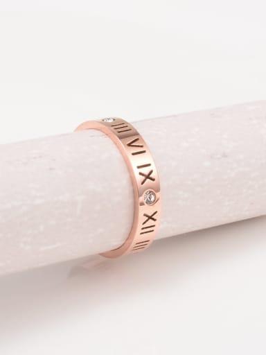 Titanium Rhinestone White Geometric Minimalist Midi Ring