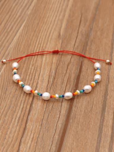 Freshwater Pearl Multi Color Irregular Bohemia Adjustable Bracelet