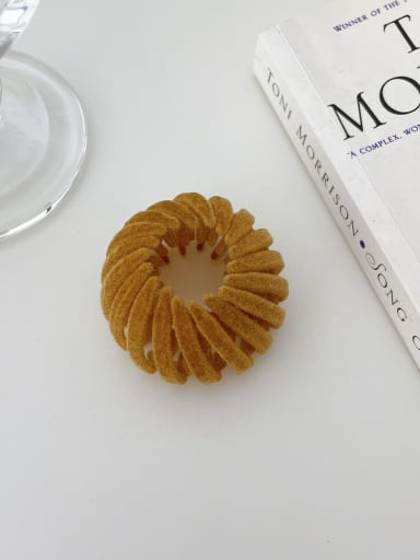 Light coffee 4.5cm Trend Geometric Resin Hair Rope