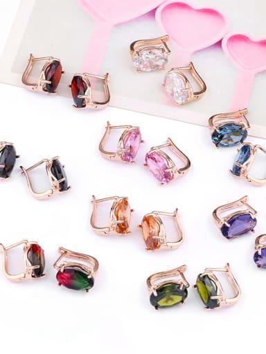 Alloy Glass Stone Rosary Bohemia Stud Earring