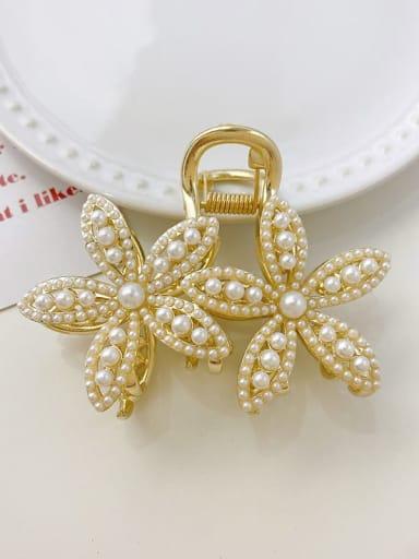 Large flower 8cm*5.5cm Alloy Imitation Pearl Cute Flower  Jaw Hair Claw