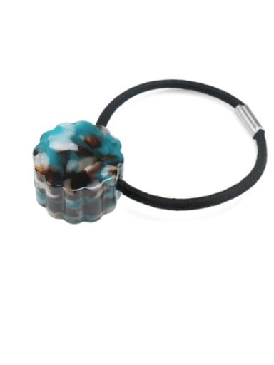Dark green Cellulose Acetate Minimalist Flower Hair Rope