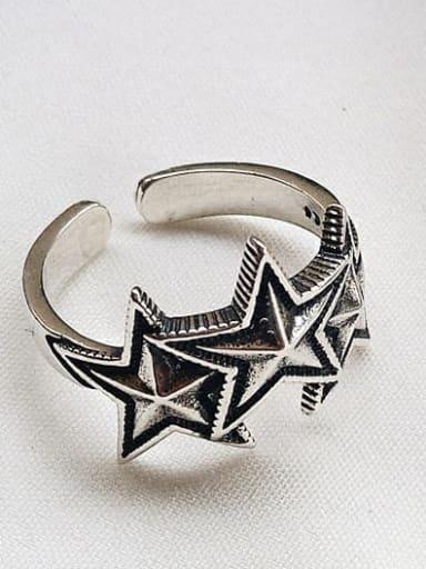 J 460 925 Sterling Silver Star Vintage Signet Ring