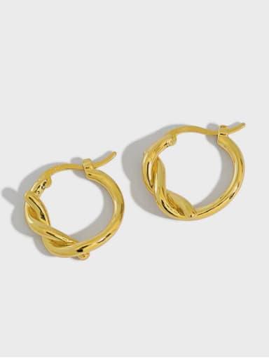 925 Sterling Silver Irregular Vintage Huggie Earring