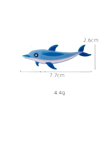 Little dolphin Cellulose Acetate Alloy Cute Dolphin  Hair Pin