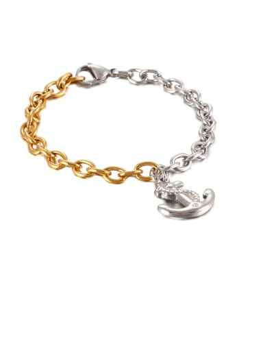 Stainless Steel Irregular Anchor Vintage Chain  Bracelet
