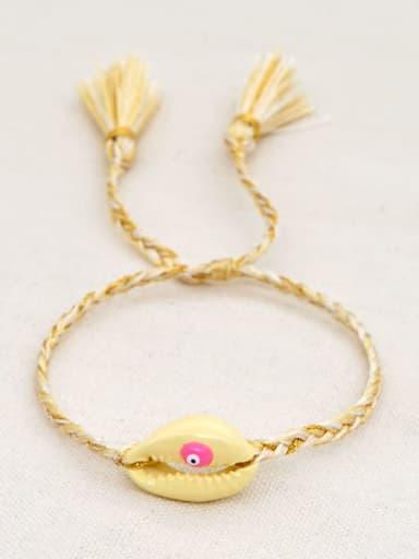 B B200060D Multi Color Polymer Clay Irregular Bohemia Handmade Weave Bracelet