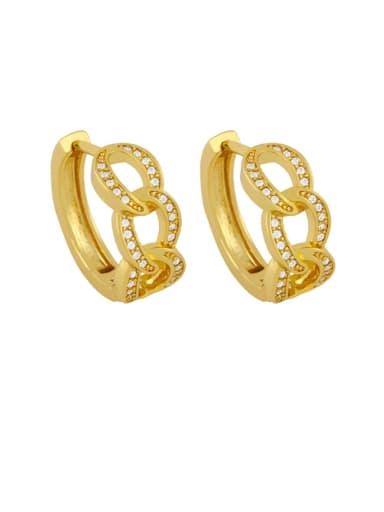 Brass Cubic Zirconia Geometric Bohemia Stud Earring