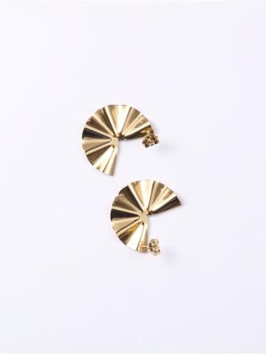 Titanium  Smooth  Irregular Minimalist Ear Jacket Earring