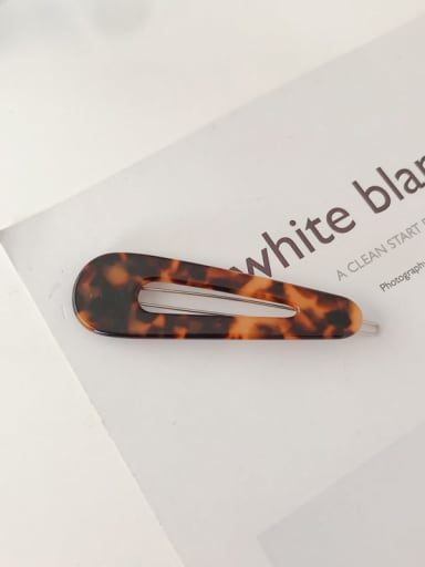 Hawksbill shell Cellulose Acetate  Minimalist Water Drop Alloy  Hair Pin