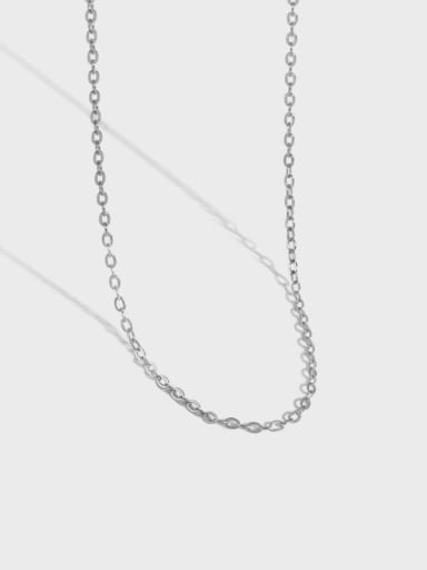 925 Sterling Silver Irregular Minimalist Cable Chain