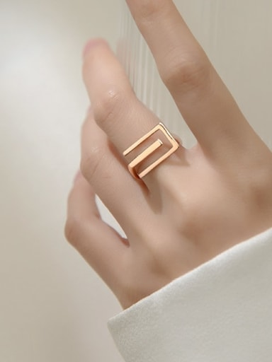 925 Sterling Silver Line  Geometric Minimalist Band Ring