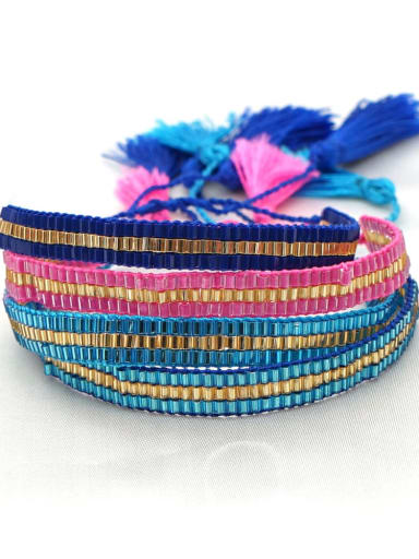 Multi Color MGB Bead Geometric Bohemia Handmade Weave Bracelet