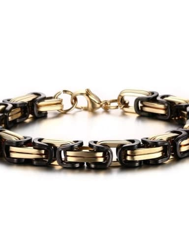 Black gold bracelet Titanium Steel Irregular Vintage Necklace