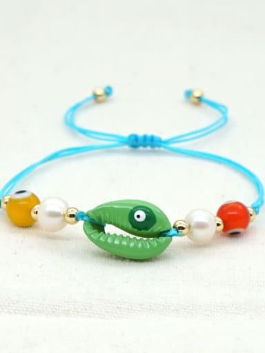 B B200052D Stainless steel Freshwater Pearl Multi Color Irregular Bohemia Adjustable Bracelet
