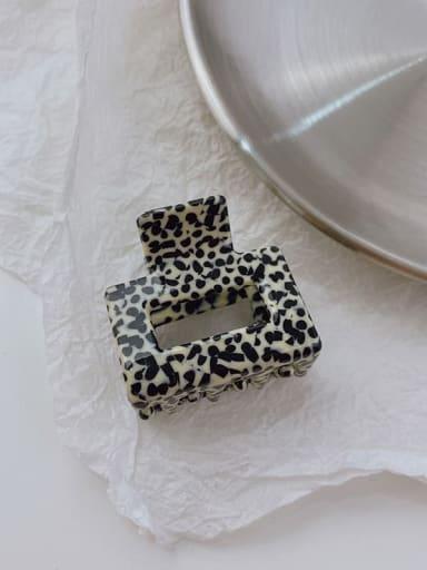 Leopard Beige 3.5cm Cellulose Acetate Minimalist Geometric Alloy Jaw Hair Claw