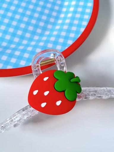 Strawberry 11cm Alloy Resin Minimalist Friut  Jaw Hair Claw