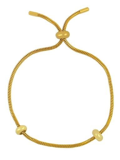 Gold Bracelet Brass Cubic Zirconia square Letter Minimalist Adjustable Bracelet