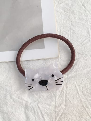 Little eyed cat white Cellulose Acetate Cute Cat Hair Rope