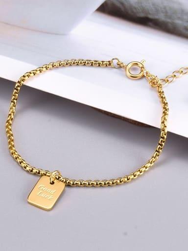 Titanium Steel Bead Chain Geometric Hip Hop Beaded Bracelet