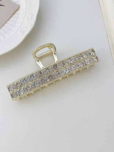 Slotted double drainage drill 10cm Alloy Rhinestone Trend Geometric Jaw Hair Claw
