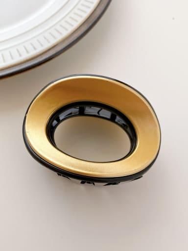 Black gold 6.8cm Alloy Resin Minimalist Geometric  Multi Color Jaw Hair Claw