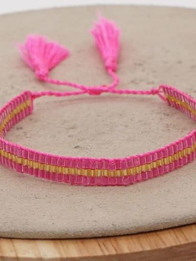 MG B180009F Multi Color MGB Bead Geometric Bohemia Handmade Weave Bracelet