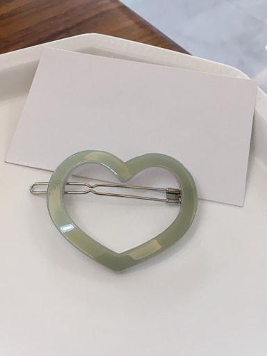 Fresh green Cellulose Acetate Minimalist Hollow Heart Alloy Hair Pin