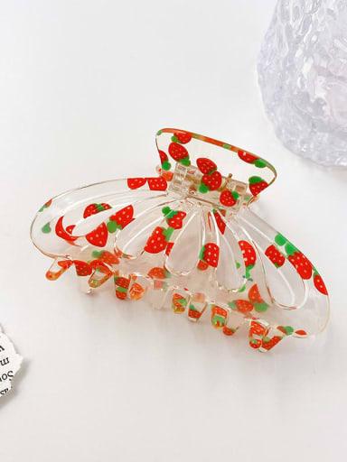 Strawberry 9cm Acrylic Minimalist Geometric Alloy Multi Color Jaw Hair Claw