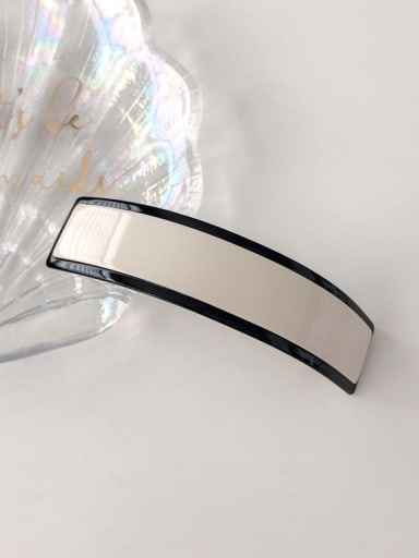 white Cellulose Acetate Minimalist Geometric Alloy Hair Barrette