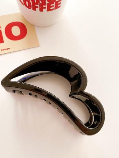 Black 10cm Alloy  Acrylic Minimalist Geometric Jaw Hair Claw
