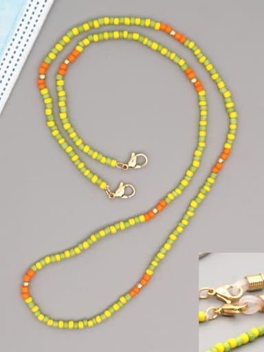 GZ N200005C Stainless steel Multi Color TOHAO  Bead  Bohemia Hand-woven Necklace