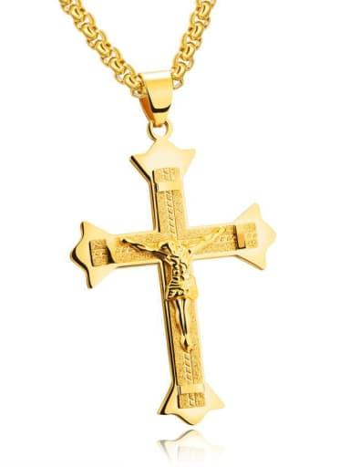 Titanium Cross Vintage Regligious Necklace