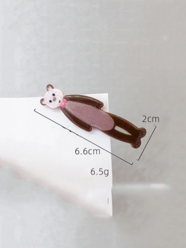 Bow tie bear Cellulose Acetate Alloy Cute Dolphin  Hair Pin