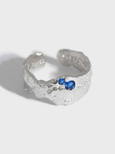 925 Sterling Silver Irregular Artisan Band Ring