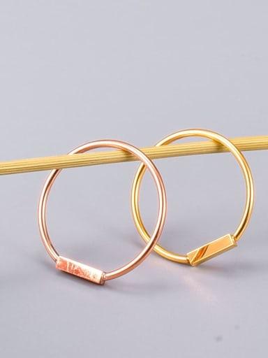Titanium Steel Geometric Letter Minimalist Band Ring