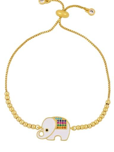 Alloy Cubic Zirconia Zodiac Vintage Link Bracelet