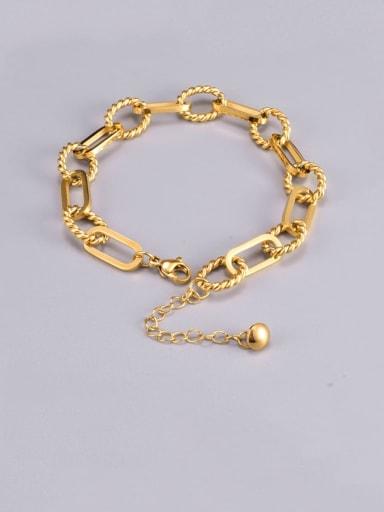 Titanium Steel Hollow Geometric Chain Hip Hop Link Bracelet