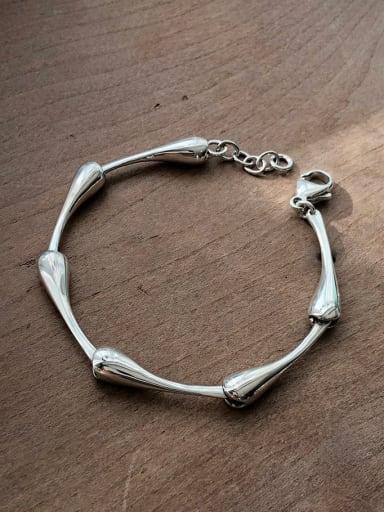 925 Sterling Silver Irregular Vintage Bracelet
