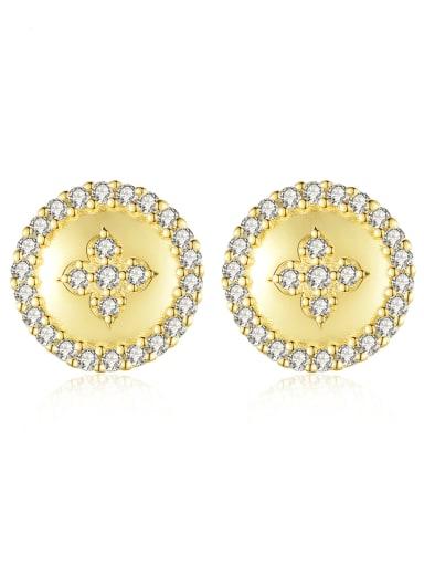 925 Sterling Silver Cubic Zirconia Geometric Dainty Stud Earring