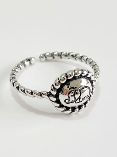 Little elephant ring j1612 925 Sterling Silver Geometric Vintage Stackable Ring