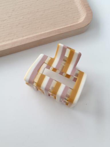 F118 Cellulose Acetate Minimalist Geometric Alloy Jaw Hair Claw